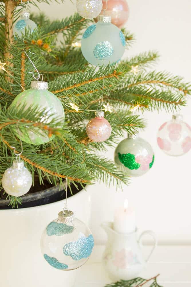 Weihnachtskugeln aufpimpen - HANDMADE Kultur