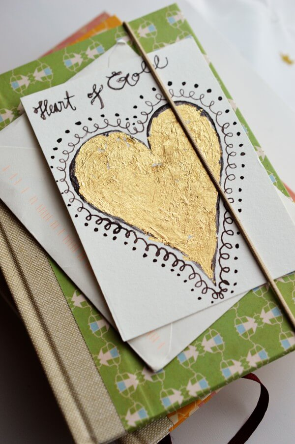 Blattgold gru karte handmade kultur for Blattgold basteln