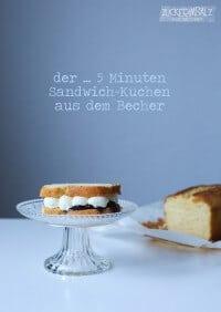 der ... 5 Minuten Sandwich Kuchen aus dem Becher