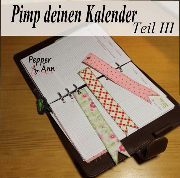 Pimp deinen Kalender-Teil III - Lesezeichen zum Einheften