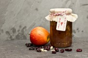 Bratapfel-Konfitüre mit Cranberries - winterlicher Frühstücksgenuss