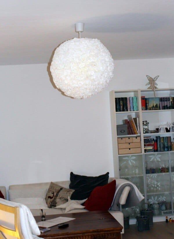 Pimp up your Regolith - DIY Wolkenlampe mit Kaffeefiltern