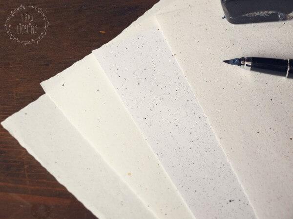 DIY Briefpapier mit Siebtechnik