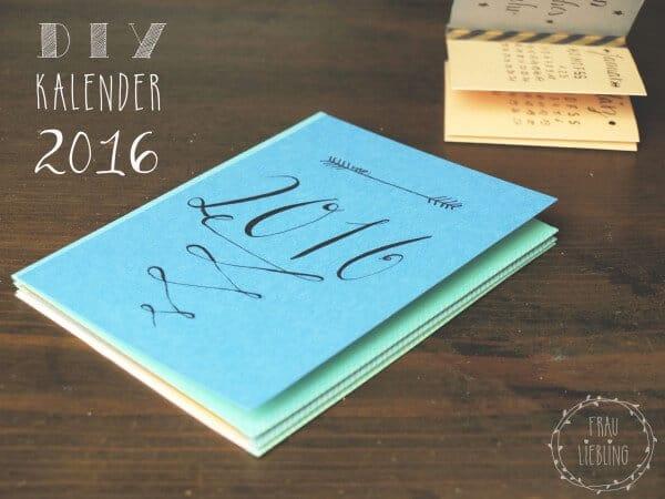 DIY Leporello-Kalender 2016