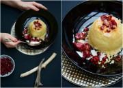 January Mornings: Frühstücks-Couscous mit Mandeln, Haselnüssen, Granatapfelkernen, Kirschen, Kokoschips und Zimt