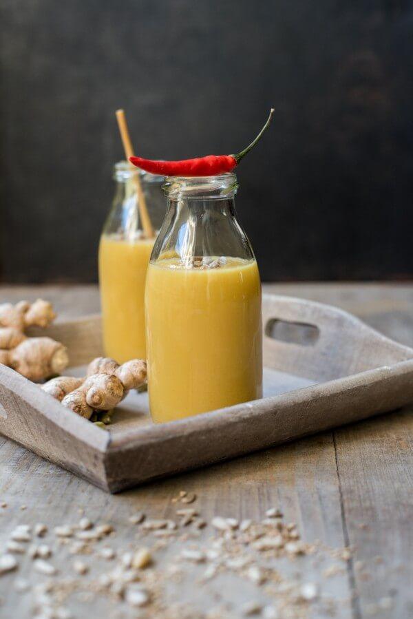 Gelbe-Bete-Suppe mit Ingwer und Kurkuma