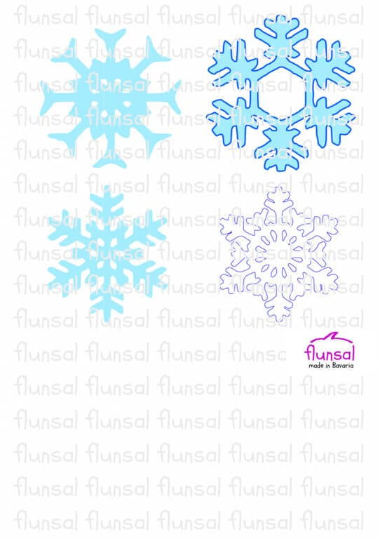 Anleitung zum Schneeflocken Aufkleber
