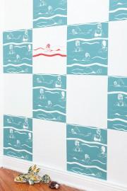 Siebdruck: Freischwimmer
