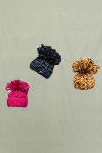 Wintermützchen als Deko zum Aufhängen / Winterdeko – Herbstdeko