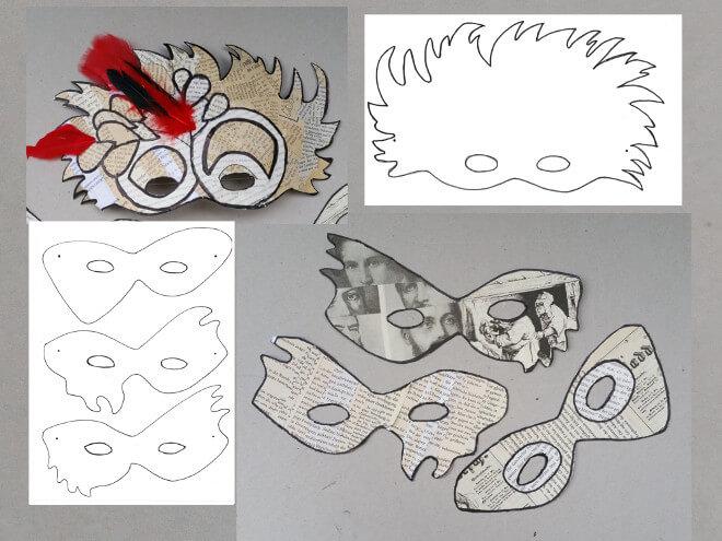 faschingsmasken basteln 1 vorlage fa 4 r die faschingsmaske ausdrucken mit kindern