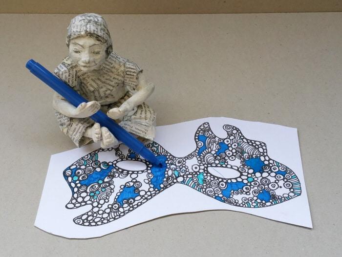 Faschingsmaske Druckvorlage Handmade Kultur