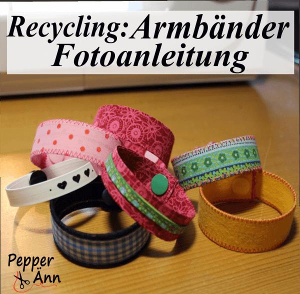 Recycling Armbänder Anleitung