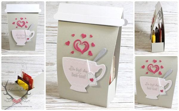 Tea to Go Verpackung als kleine Einladung oder Geschenk