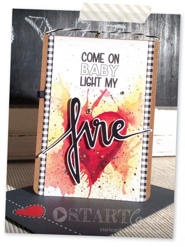 karte zum valentinstag come on baby light my fire. Black Bedroom Furniture Sets. Home Design Ideas