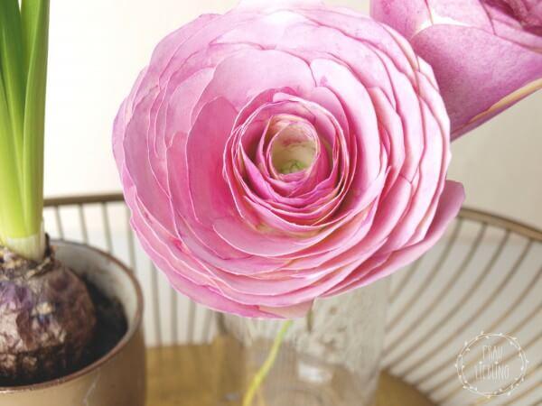 DIY Papierblumen: Ranunkeln