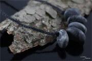 Statement-Kette aus Kaltporzellan-Steinen