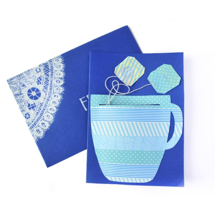 30mindiys tutorial wie bastelt man eine teetassenkarte mit teebeutel handmade kultur. Black Bedroom Furniture Sets. Home Design Ideas