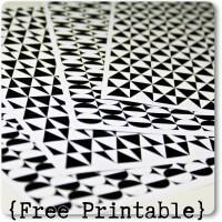 Kreis und Dreieck in schwarz und weiss ... {Free Printable}