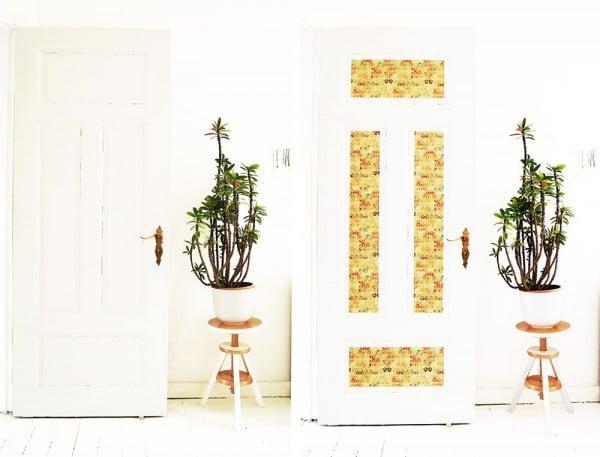 Tür Makeover mit Klebefolie