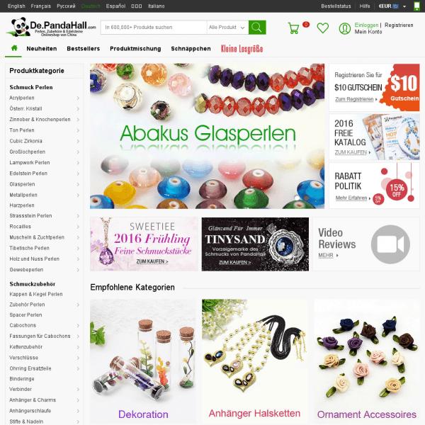 Perlen, Schmuckzubehör Großhandel Onlineshop - De.PandaHall.com