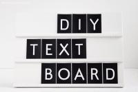 DIY // Textboard selber machen und free printable
