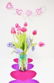 HERZliche DEKO für Valentinstag ❤ Tischläufer & Girlande