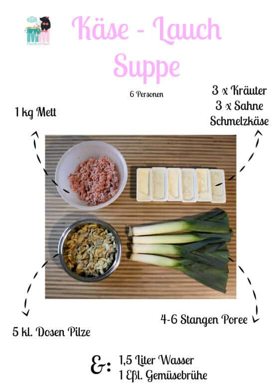 Rezept – Käselauchsuppe - ohne Fix Tüten