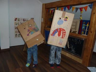 Basteln mit Kindern: Schachtelmonster