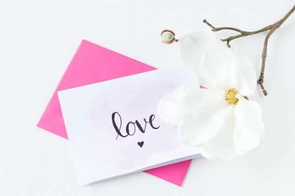 Handlettering Karten zum Valentinstag