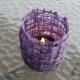 Teelichthalter aus Wolle