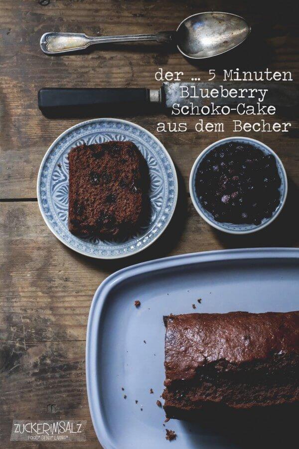 der ... 5 Minuten Blueberry Schoko Cake aus dem Becher