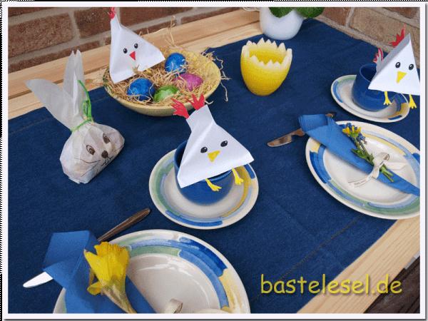 Einblatt-Küken für Ostern