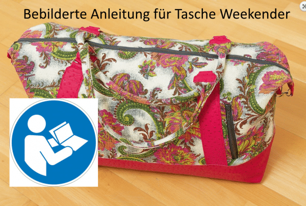 Anleitung für Tasche Weekender aus HandmadeKultur 03/2015