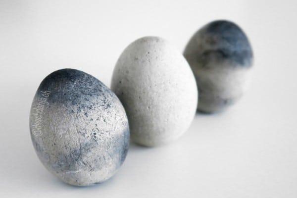 Eier aus Beton giessen