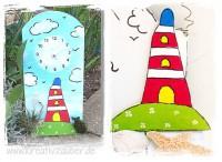 Leuchtturm - Bastelvorlage