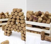 DIY 3D Buchstaben aus Korken