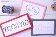 DIY Karte mit Schnurmotiv zum Muttertag