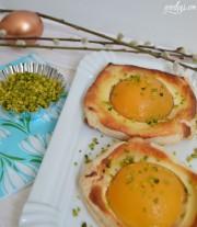 Pfirsich-Küchlein für den Ostertisch