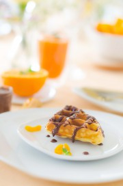 Aprikosenwaffeln mit Nuss Nougat Creme von den [Foodistas]