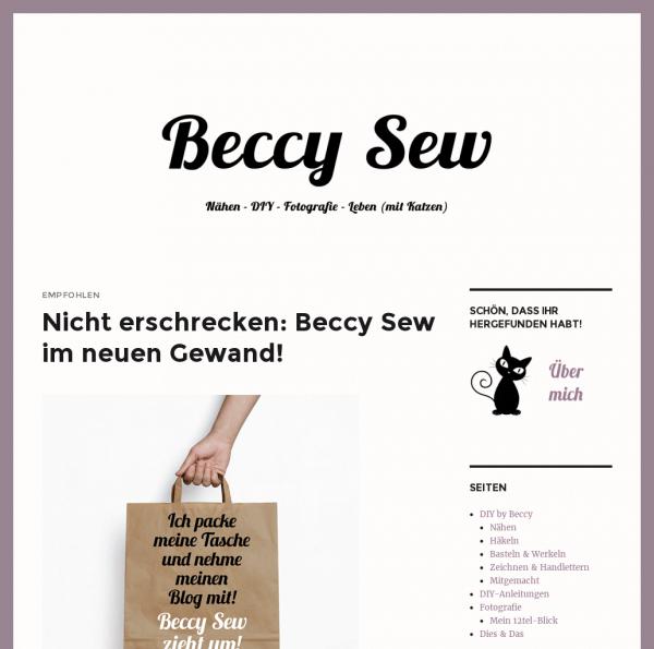 Beccy Sew – DIY mehr | Nähen – DIY – Fotografie – Leben
