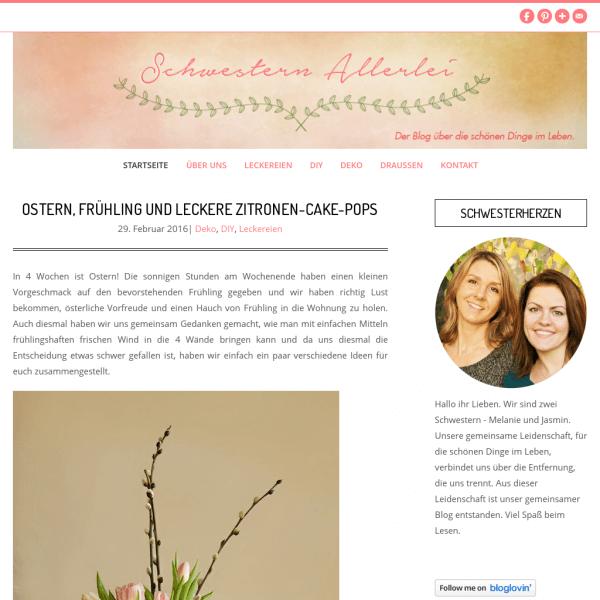 Schwestern Allerlei - Der Blog, über die schönen Dinge im Leben.