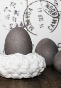 Graue Eier färben - ganz natürlich