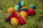 Ostereier selber färben: zweifarbig