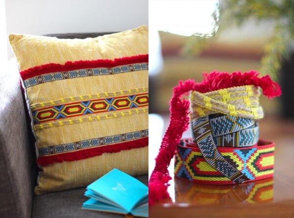 Kissen im Indianer-Look