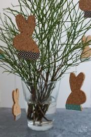 DIY: Osterhasenanhänger aus Kork