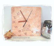 Uhr in der Trendfarbe Kupfer basteln