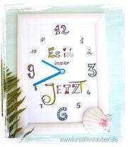 """Bilderrahmen - Uhr """"Lettering"""""""
