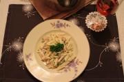 One Pot Pasta mit Chicorée und Ziegenkäse