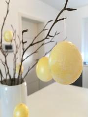 Ostereier marmorieren mit Nagellack