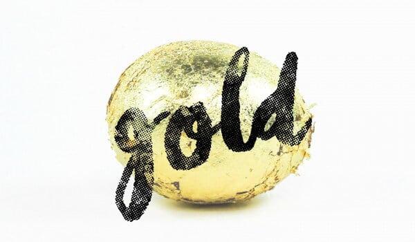 DIY - Goldenes Osterei mit Überraschung